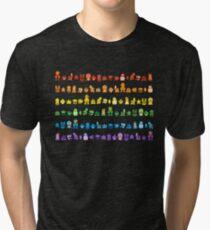 Rainbow Super Mario - Horizontal Version 2 Tri-blend T-Shirt