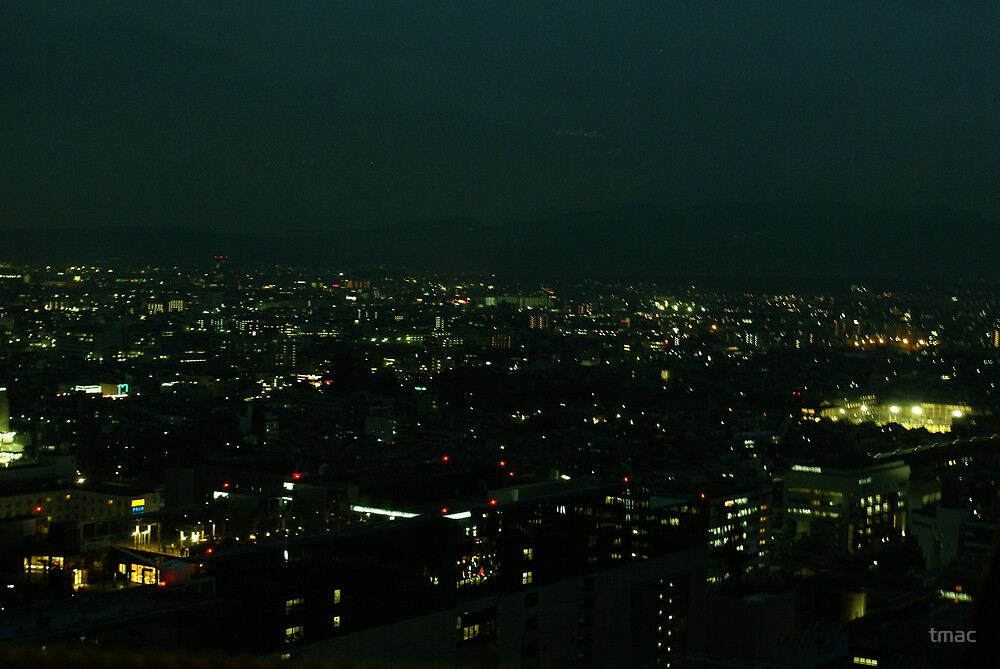 Japan - An Ariel Night in Kyoto 3 by tmac