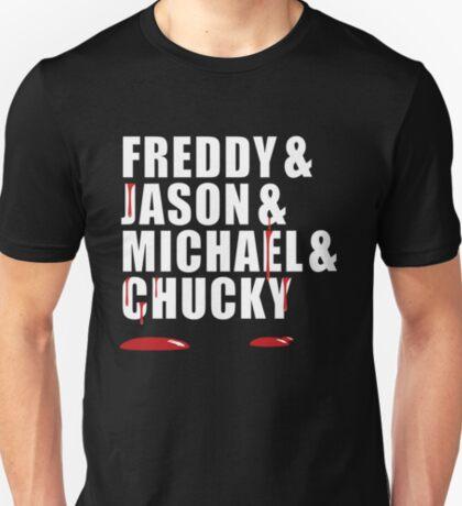 Freddy, Jason, Michael & Chucky T-Shirt