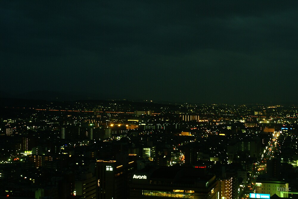 Japan - An Ariel Night in Kyoto 5 by tmac