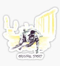 Original Sport Wrestling Art Sticker