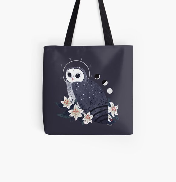 Familiar - Sooty Owl All Over Print Tote Bag