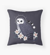 Familiar - Sooty Owl Throw Pillow