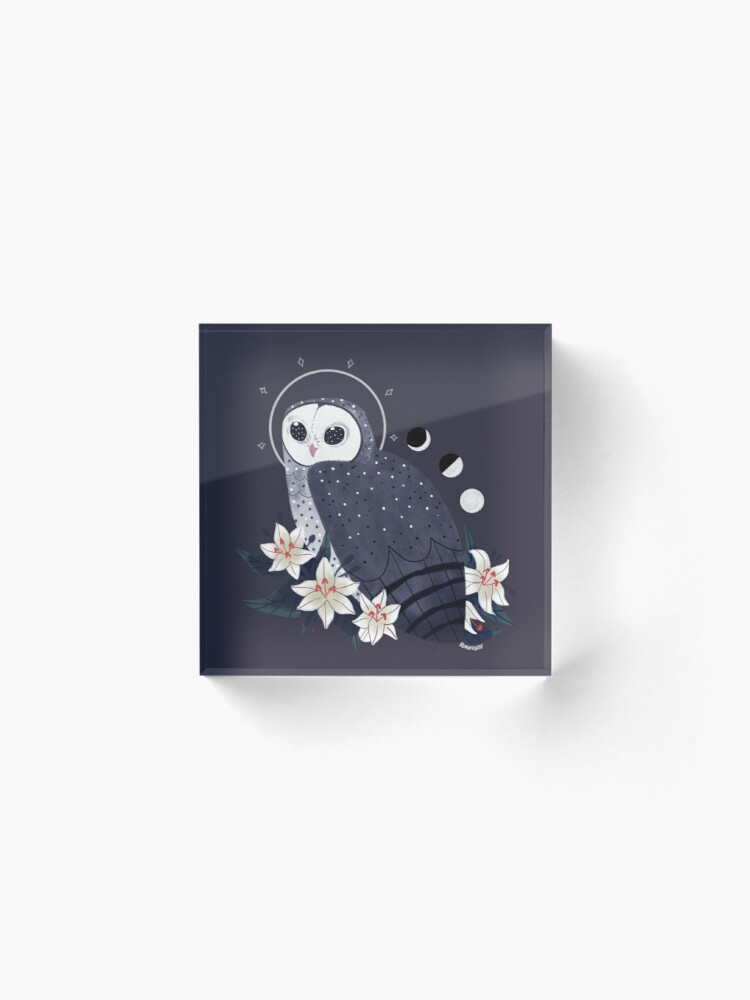 Alternate view of Familiar - Sooty Owl Acrylic Block
