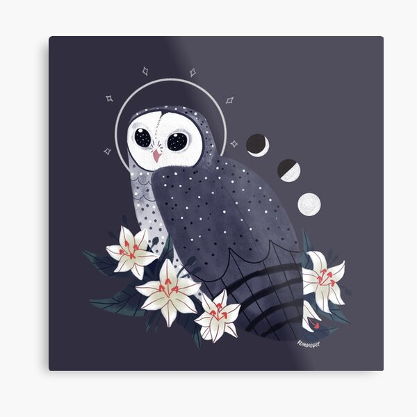 Familiar - Sooty Owl Metal Print