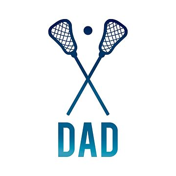 Lacrosse Dad Navy Ombre by LabraDoodles