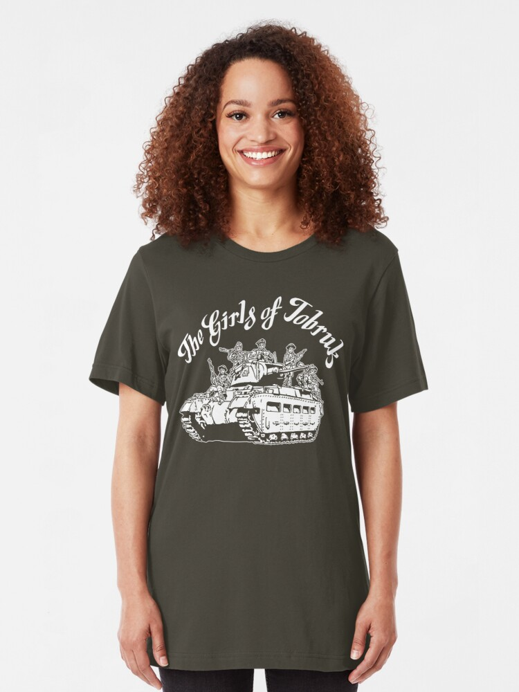 Alternate view of The Girls of Tobruk Slim Fit T-Shirt
