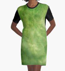 Greenish Trendsetter  Graphic T-Shirt Dress