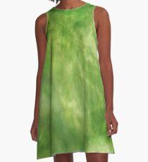 Greenish Trendsetter  A-Line Dress