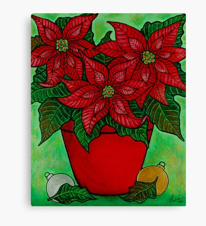 Poinsettia Season Canvas Print