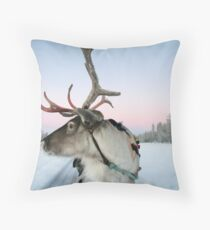 Lapland Reindeer Throw Pillow