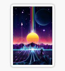 Neon Sunrise Sticker