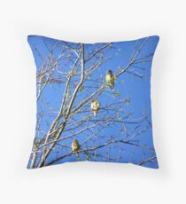 waxwings Throw Pillow