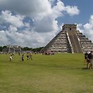 The Castle or Pyramid of Kukulcan by LizAndino
