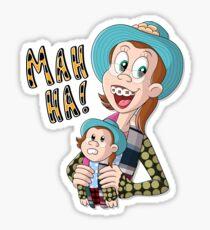 MAH HA! Sticker