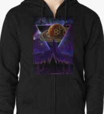 Summon the Future - Synthwave Blade Runner Future Zipped Hoodie