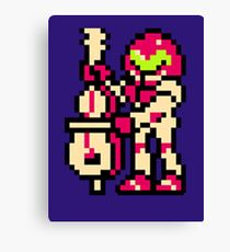 Metroid Musician from Tetris Canvas Print