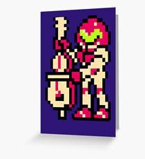 Metroid Musician from Tetris Greeting Card