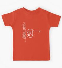 White Vervet Thirst Logo Kids Clothes