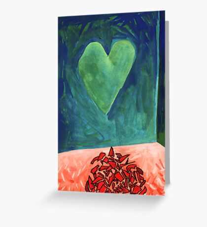 Shattered Heart Greeting Card