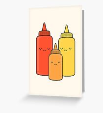 Ketchup & Mustard Baby Greeting Card