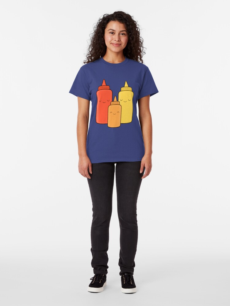 Alternate view of Ketchup & Mustard Baby Classic T-Shirt