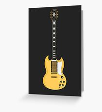 SG Guitar Greeting Card