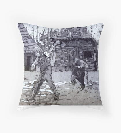 Run run! Throw Pillow