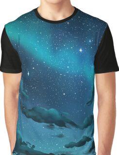 Cloudy Galaxy Night Sky Graphic T-Shirt