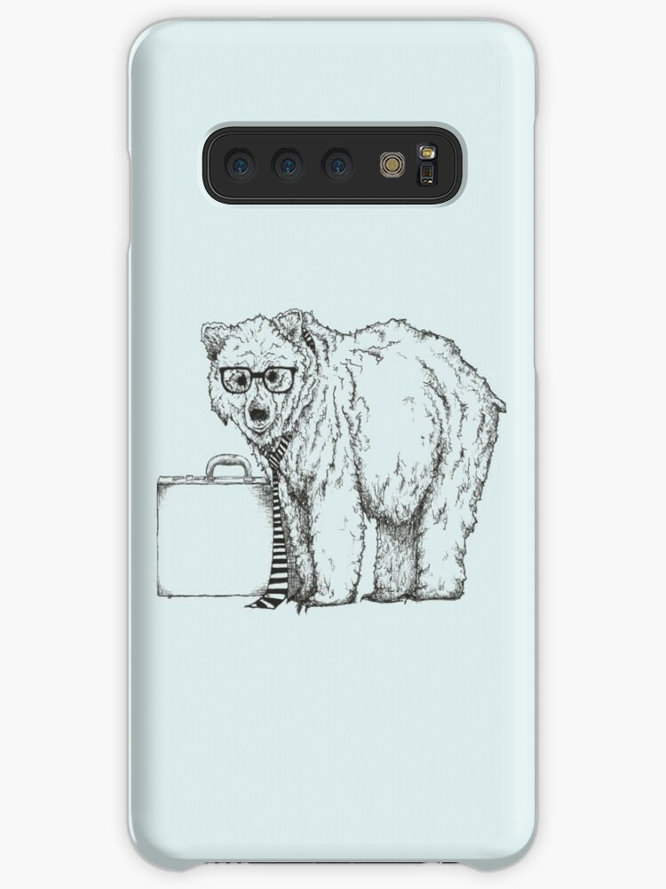 Go Into Busines With A Grizzly Bear 2 Caseskin For Samsung Galaxy By Jamie Stryker