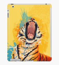 Wildes Gähn - Tigerporträt, bunter Tiger, Tierillustration iPad-Hülle & Klebefolie