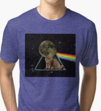 The Dark Side Of The Moon Cat  Tri-blend T-Shirt