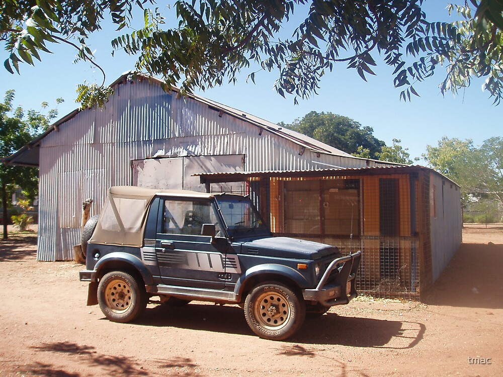 Tennant Creek, NT, Australia - Car Infront of Shed by tmac