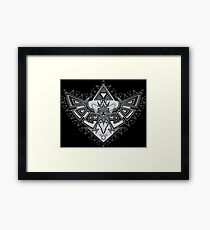 Heart Shield Triforce Silver 2/3 Framed Print