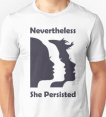 Nevertheless She Persisted blue T-Shirt