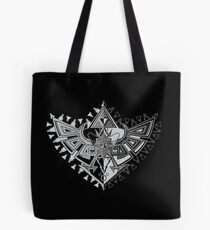 Heart Shield Triforce Silver 1/3 Tote Bag