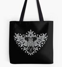 Heart Shield Triforce Silver 2/3 Tote Bag