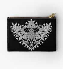 Heart Shield Triforce Silver 2/3 Studio Pouch