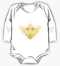 Heart Shield Triforce Gold 3/3 One Piece - Long Sleeve