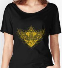 Heart Shield Triforce Gold 3/3 Women's Relaxed Fit T-Shirt