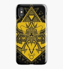 Heart Shield Triforce Gold 3/3 iPhone Case