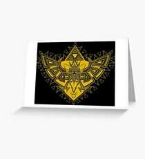 Heart Shield Triforce Gold 3/3 Greeting Card