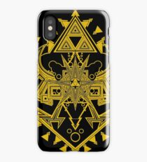 Heart Shield Triforce Gold 2/3 iPhone Case