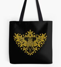 Heart Shield Triforce Gold 2/3 Tote Bag