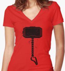 MJOLNIR - HAMMER OF THE GODS Women's Fitted V-Neck T-Shirt