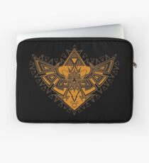 Heart Shield Triforce Bronce Gold 3/3 Laptop Sleeve