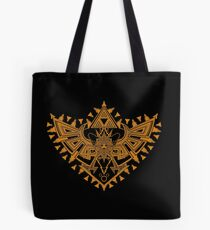 Heart Shield Triforce Bronce Gold 2/3 Tote Bag