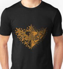 Heart Shield Triforce Bronce Gold 1/2 T-Shirt