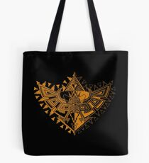 Heart Shield Triforce Bronce Gold 1/2 Tote Bag