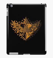Heart Shield Triforce Bronce Gold 1/2 iPad Case/Skin